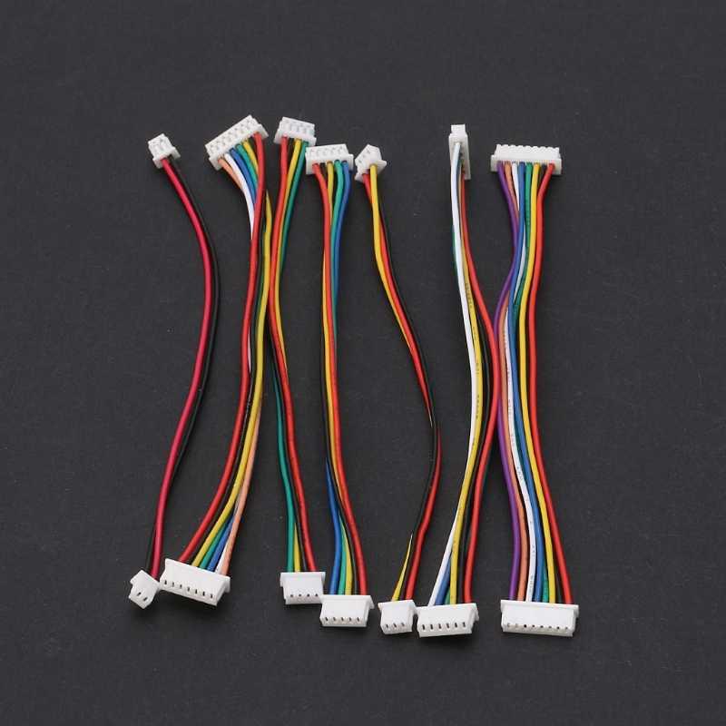 15CM//20CM//30CM PH2.0mm Color Electronic Terminals Wire Plug Connector End Tin 2P