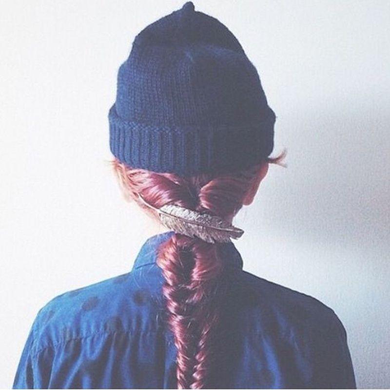 1 Stück Nette Retro Übertrieben Große Federlegierung Kreative Federclip Weibliche Haarnadel Haar Zubehör Verkaufsrabatt 50-70%