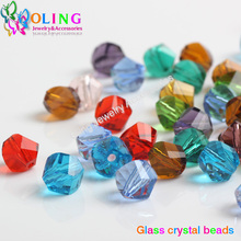 2016 new AAA 8mm 60Pcs Mixed color Faceted Helix/Twist Glass Crystal Beads Rondelle Spacer Bead Craft DIY choker jewelry making