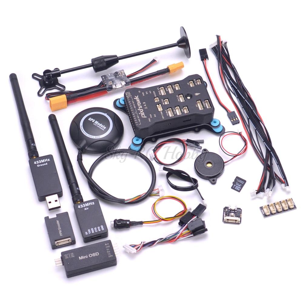 Pixhawk PX4 PIX 2.4.8 contrôleur de vol interrupteur de sécurité Buzzer 8N GPS Mini OSD/I2C/PPM/Module RGB 915 Mhz/433 Mhz télémétrie-in Pièces et accessoires from Jeux et loisirs    1