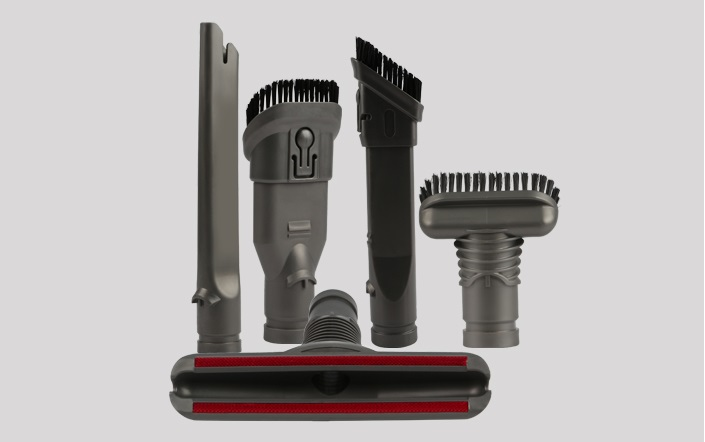 5-Piece Attachment Kit Crevice tool Combination tool bristle brush For DYSON DC35 DC45 DC58 DC59 DC62 DC48 flexible vacuum cleaner brush for hoover crevice tool for dyson v6 dc62 dc52 dc59