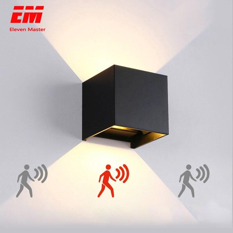 FÜHRTE Wand Licht Im Freien Wasserdichte IP65 Radar Motion Sensor Veranda Wand Lampe Hause Leuchte Indoor Dekoration Beleuchtung Lampe ZBW0002