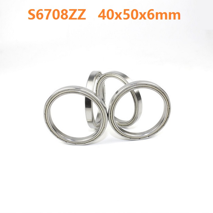 1pcs S6708ZZ S6708 ZZ ABEC-5 Stainless Steel bearing 40*50*6mm Stainless Steel Deep Groove Ball Bearing 40x50x6mm 6708ZZ 1pcs high quality miniature stainless steel deep groove ball bearing stainless steel 440c material smr85zz 5 8 2 5 mm
