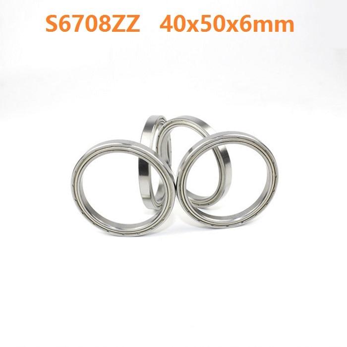 1pcs S6708ZZ S6708 ZZ ABEC-5 Stainless Steel bearing 40*50*6mm Stainless Steel Deep Groove Ball Bearing 40x50x6mm 6708ZZ femi pleasure футболка