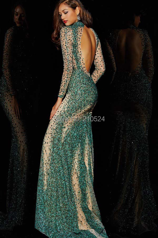d9af266e7b9 extravagant sparkle nice high neck trumpet mermaid floor length regular  shoulder crystal satin prom dresses-in Prom Dresses from Weddings   Events  on ...