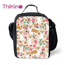 Thikin Flower Animals Cooler Lunch Box Portable Insulated Bag Tote PouchThermal Food Picnic Bags For Women Kids