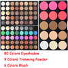 2017 POPFEEL Brand 9 Color Face Contour Powder 6 Color Rose Blush 80 Glitter Eyes New
