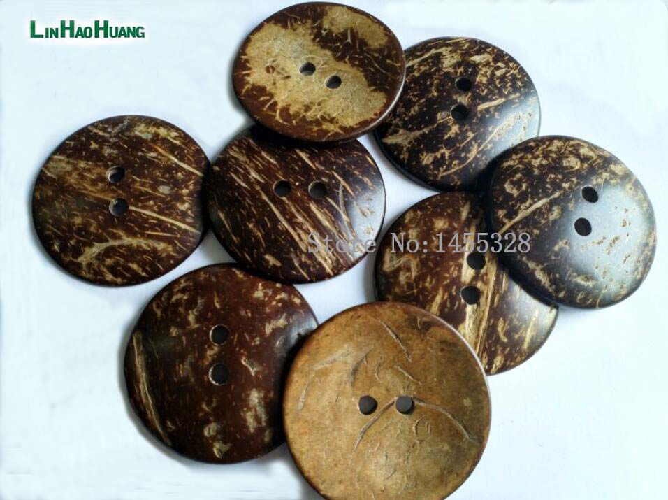 20pcs big large <font><b>50mm</b></font> 2inch 2 hole natural coconut <font><b>buttons</b></font> sewing <font><b>buttons</b></font> free shipping 2015082101 image