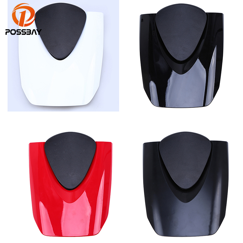 POSSBAY Motorcycle Unpainted Rear Seat Cover Fairing Cowl Scooter Saddles for Honda CBR 600RR F5 2007-2012 Motobike Tail Seats