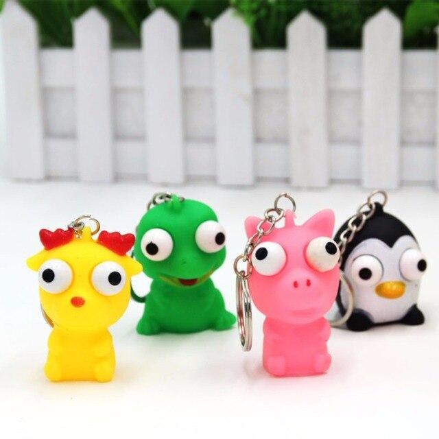 JJR/C Engraçado Pinguim Pequeno Dragão Olhos Lotados Brinquedos Macios Brinquedo Modelo de Simulação Brinquedos Infláveis Enfeites de Olho Cor Aleatória