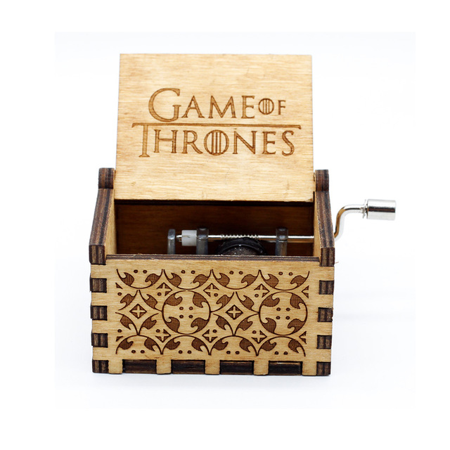 Wholesale Original Carve Retro Wooden Music Box Ice And Fire Song Game Of Thrones Hand Crank Theme Caixa De In Boxes From Home