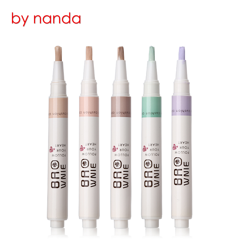 Face Eyes Lips Foundation Concealer Pen Stick Contouring Liquid Concealer Brush Camouflage Palette for Acne Blemish Dark Circles