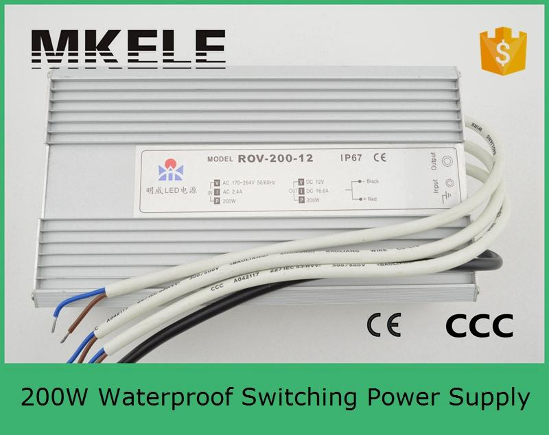 ФОТО CE approved high qualtity waterproof LED water-proof led power driver 200w FS-200-36 5.5A 36V switching power supply