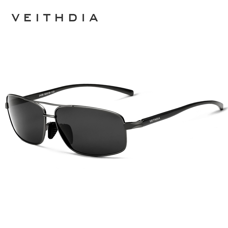 VEITHDIA Brand Designer Sunglasses Men HD Polarized Lens Male Sun Glasses Eyewear Accessories Gafas Oculos De Sol Masculino 2458