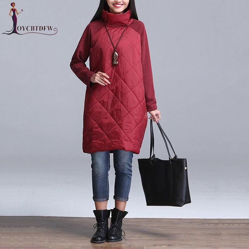 Outerwear Plus Size M-4xl Autumn Women Down Jacket 2018 Fashion Section High Collar Parkas Thin Warm Female Down Jacket Coats