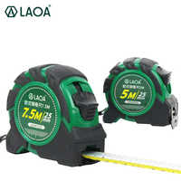 LAOA 5m/7.5m Measuring Steel Tape Roulette Wrestling European Chinese Fengshui Style High Precision Double Scales Rubber Covered