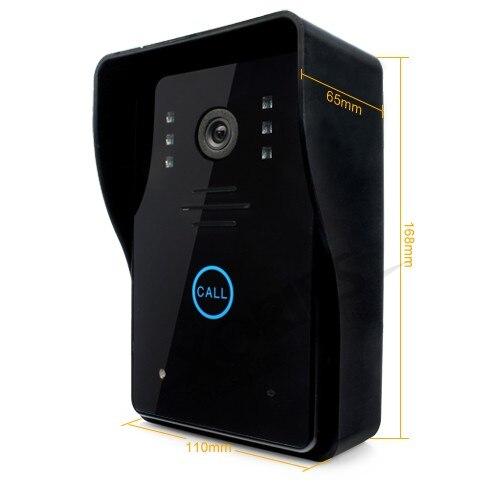 Доставка ЕС HOMSECUR 9 ЖК ИК телефон двери дверные звонки домашняя система безопасности + 1CCTV камера для мониторинга - 3