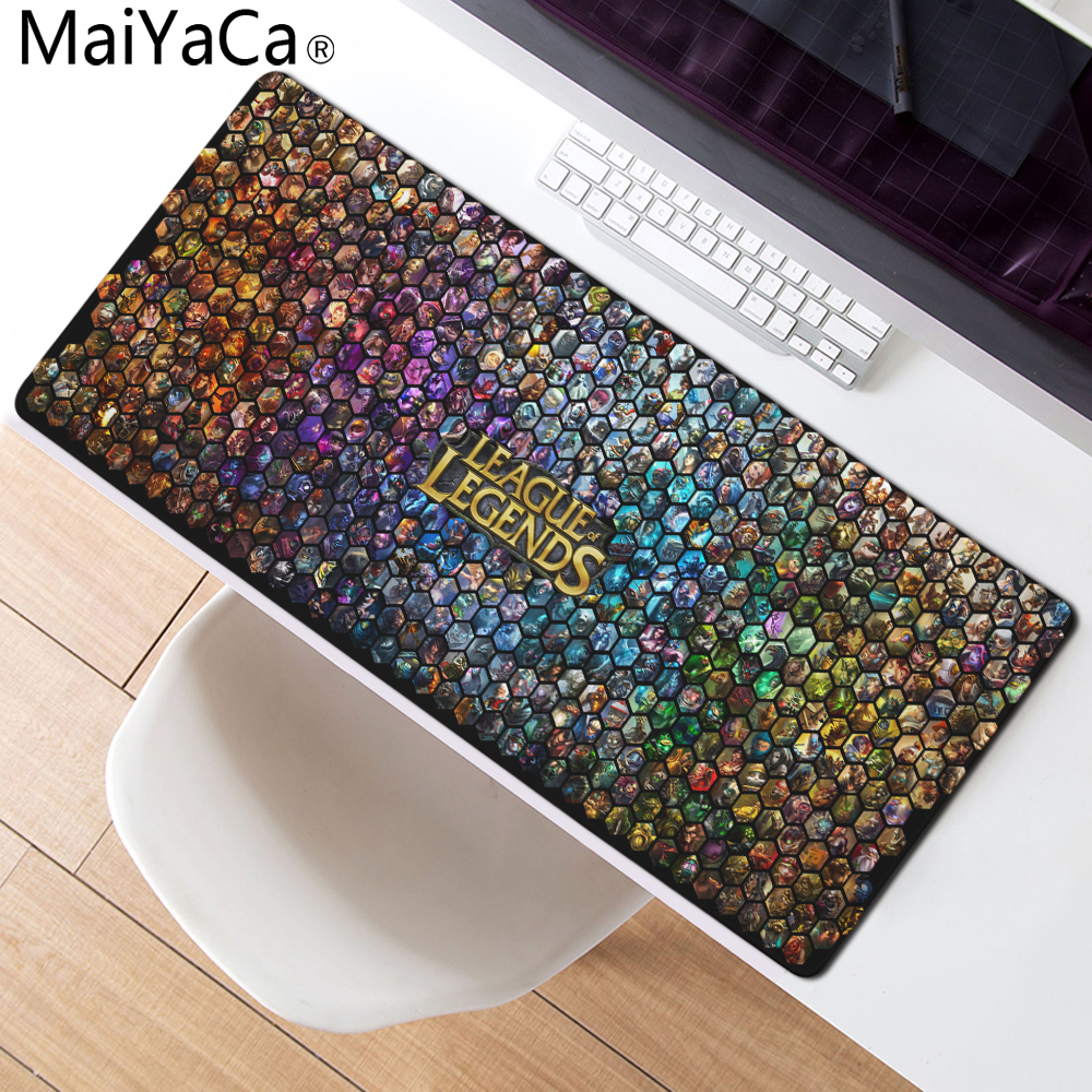 MaiYaCa League of legends Mouse Pad Locked Edge Pad to Mouse Notbook Computer Mousepad 90x30cm Gaming Padmouse Gamer Best Seller cs go mouse pad 900x300mm pad to mouse notbook computer locked edge mousepad csgo gaming padmouse gamer to keyboard mouse mat
