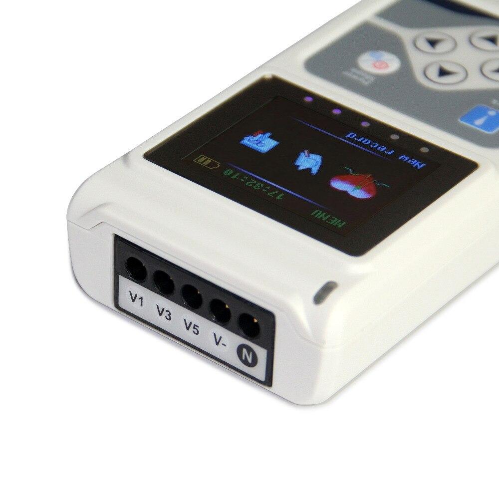 CONTEC TLC9803 3 Kanäle Beschreibbare Maschine EKG Holter System überwachung tester Monitor gesundheit pflege