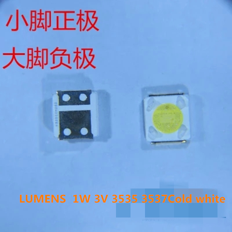 100Piece/lot For Repair LUMENS D3GE-400SMB-R3 D2GE-320SC0-R3 D3GE-460SMA-R2 LED Backlight SMD LEDs 1W 3V 3535 3537 Cold White