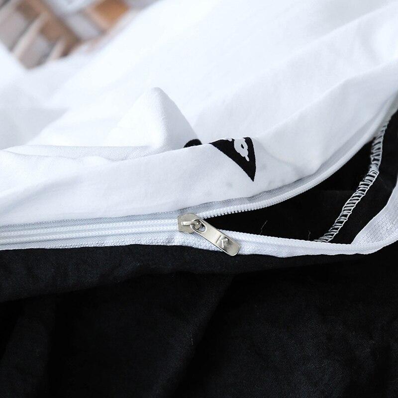 Solstice домашний текстиль для девочек подростков краткое Постельное белье для взрослых женские инэн мягкие черный, белый цвет сердце пододеял...