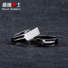 Модное кольцо из нержавеющей стали с высокой полировкой и шестигранным