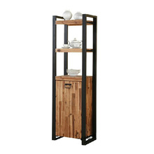 American Village Wrought Iron Bowl vintage wood shelf display shelf bookcase customized study word Stands