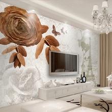 Papel pintado 3D papel tapiz personalizado 3d diseño vintage, torre, papel tapiz de flores pintura Mural para sala de estar papel tapiz 3D