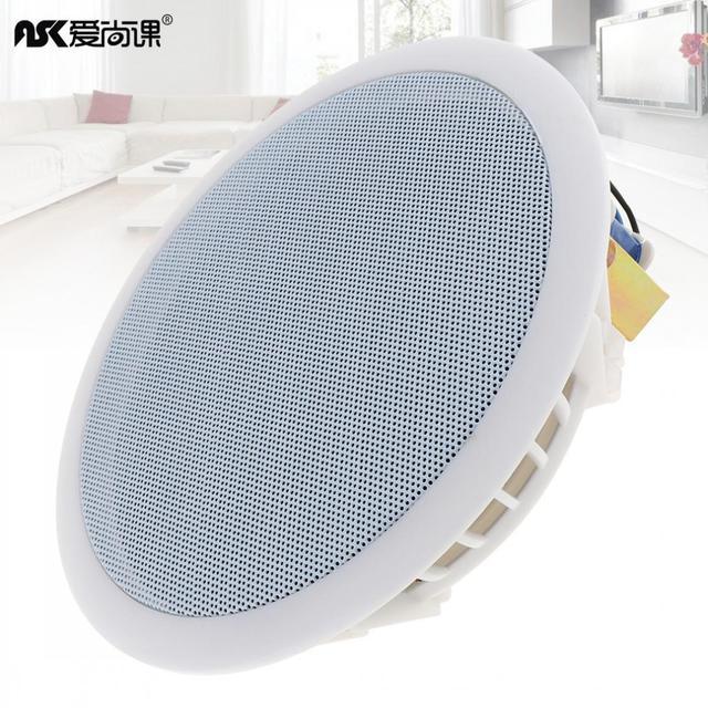 5.5 Inch 8W High Sensitivity Radio Ceiling Speaker Public Broadcast Background Music System Loudspeaker for Home Supermarket