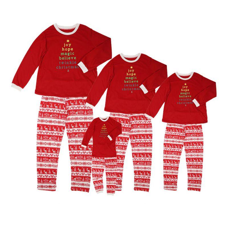 Family Clothes Christmas Family With Kid Deer Sleepwear Nightwear Pajamas Set Prepare familys Christmas This Year Buy It Now