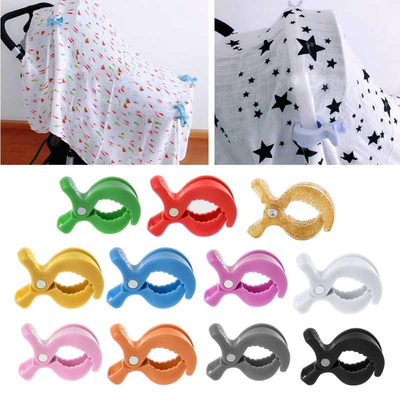 Colorido novo assento de carro do bebê acessórios brinquedo lâmpada carrinho de bebê peg para gancho capa cobertor clipes MAY31-A