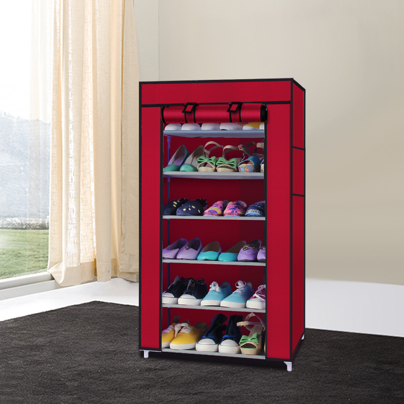 7 Tier Large Capacity DIY Shoe Rack Storage Non-woven Shoe Cabinet Cloth Shoe cupboa Storage For Living Room Or Doorway 12 grid diy assemble folding cloth non woven shoe cabinet furniture storage home shelf for living room doorway shoe rack