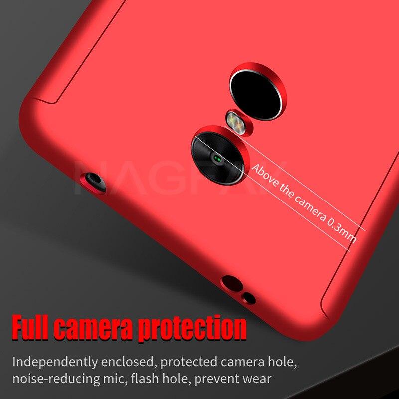 Image 5 - NAGFAK Роскошный 360 градусов чехол для телефона на для Xiaomi Redmi Note 4 4X матовый противоударный чехол для Note4 чехол для глобальной версии стекло-in Бамперы from Мобильные телефоны и телекоммуникации on AliExpress