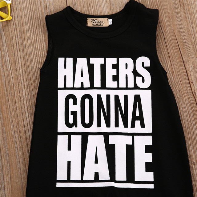 """""""Haters Gonna Hate"""" Unisex Romper Baby Clothes Rompers Shop by Age Toddler (1-3 years)"""
