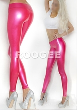 Close-fitting latex leggings for girls