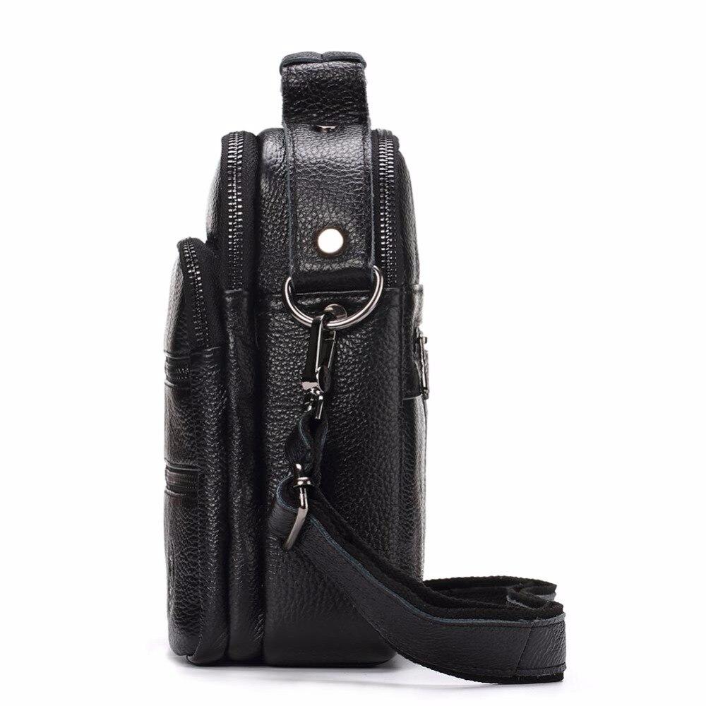 Bagaj ve Çantalar'ten Çapraz Çantalar'de FUZHINIAO Moda erkek postacı çantası Hakiki Deri omuzdan askili çanta En Kaliteli Erkek Iş Crossbody Çanta seyahat el çantası'da  Grup 2