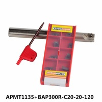 BAP 300R C20 20 120 with 10pcs APMT1135 LENGTH 120 Milling tool holder face mill for cnc milling machine for insert APMT1135