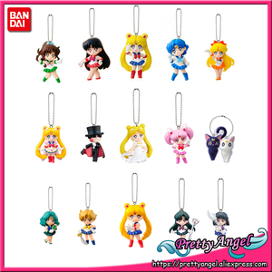 Image 1 - PrettyAngel   Original Bandai Sailor Moon 20th Anniversary Bishoujo Senshi Keychain Swing Gashapon Capsule Mini Fiugure