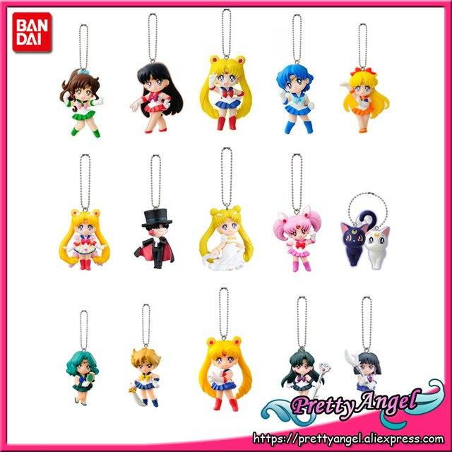 PrettyAngel   Original Bandai Sailor Moon 20th Anniversary Bishoujo Senshi Keychain Swing Gashapon Capsule Mini Fiugure