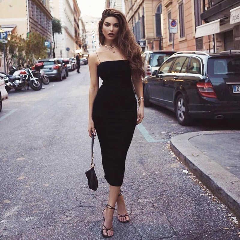 Женское двухслойное платье макси NewAsia Garden, хлопковое платье на бретельках, элегантное привлекательное повседневное базовое платье-футляр черного цвета, лето 2019
