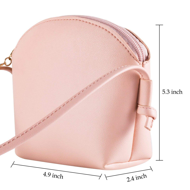 471cbb4f90e3 AUAU Pink Little Girls Crossbody Purse Cute Cat Shoulder Bag for Girls