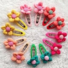20Pcs/lot Colorful 3D Sunflower Baby girl little Hairpin Children Hair accessories Baby flower hair clip for Hair Bebes barrette