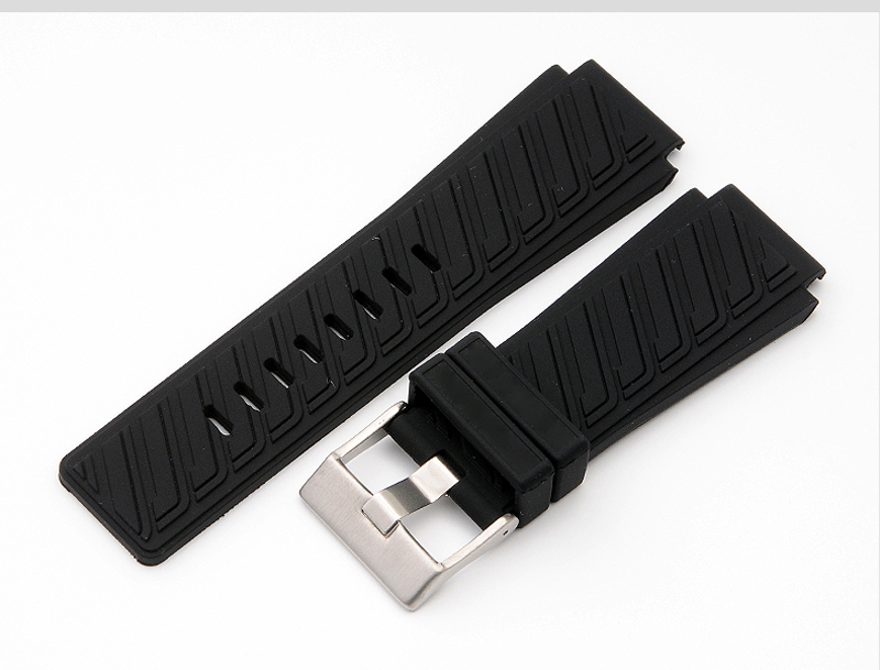 The new watch band for DZWB0001 | DZ4243N rubber convex 22mm rubber male strap 30mm watch accessories u convex pouch color block spliced edging band boxer brief