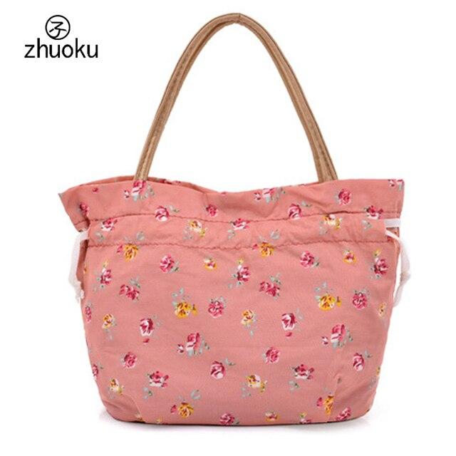 2017 New Top-Handle Bags Good quality nylon printing purses and handbags Female Totes bag Drawstring beam port bag bolsos ZK781