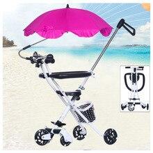 Five Wheels Portable Foldable Baby Stroller Travel Trike Carbon Steel Tricycle Bike Handbar Pushchair Child Walker Pram Buggy