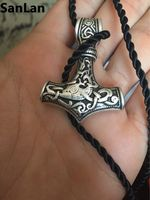 Dropshipping 1pcs Thor S Hammer Mjolnir Pendant Choker Necklace Viking Jewelry Scandinavian Norse Viking Necklace Men