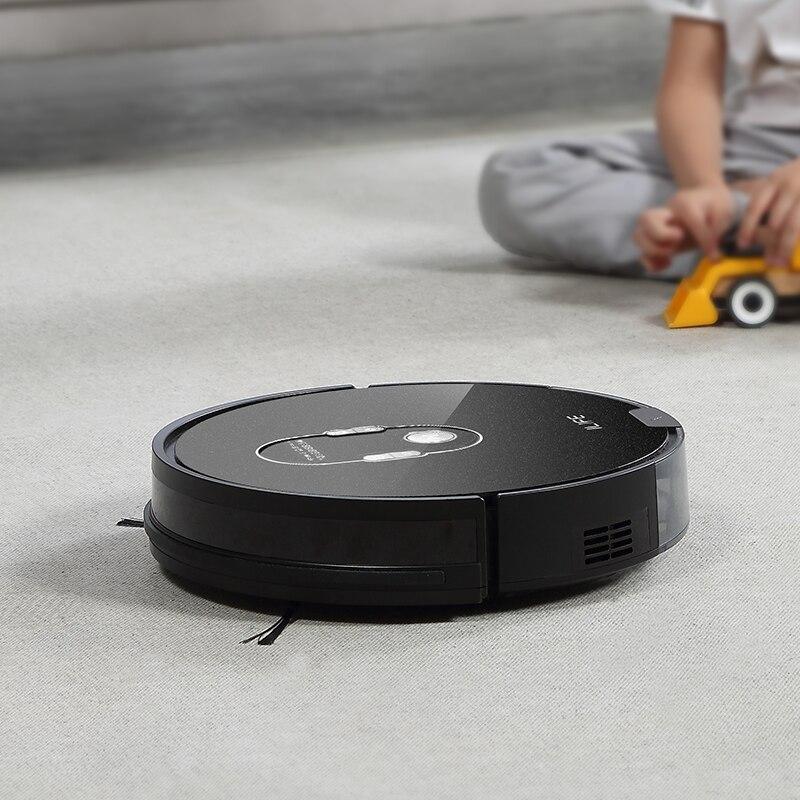 ILIFE A7 Roboter Staubsauger Smart APP Fernbedienung für Harte Boden und Dünnen Teppich Automatische Aufladen Schlanken Körper
