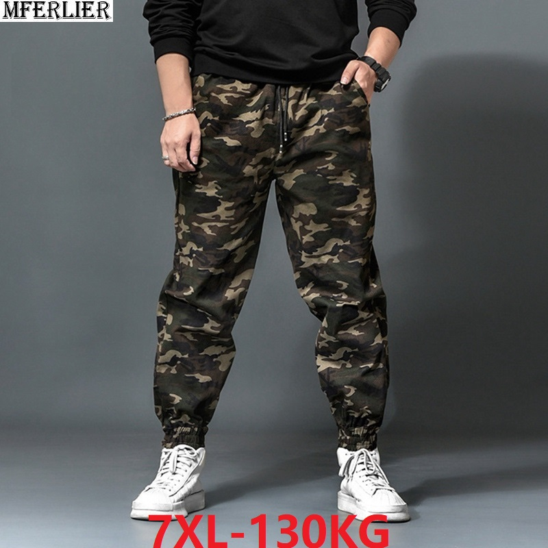 Mens Cargo Pants Spring Men Sweatpants Camouflage Outdoor Pants Sports High Street Plus Size Big 5XL 6XL 7XL 48 Loose Pants 50