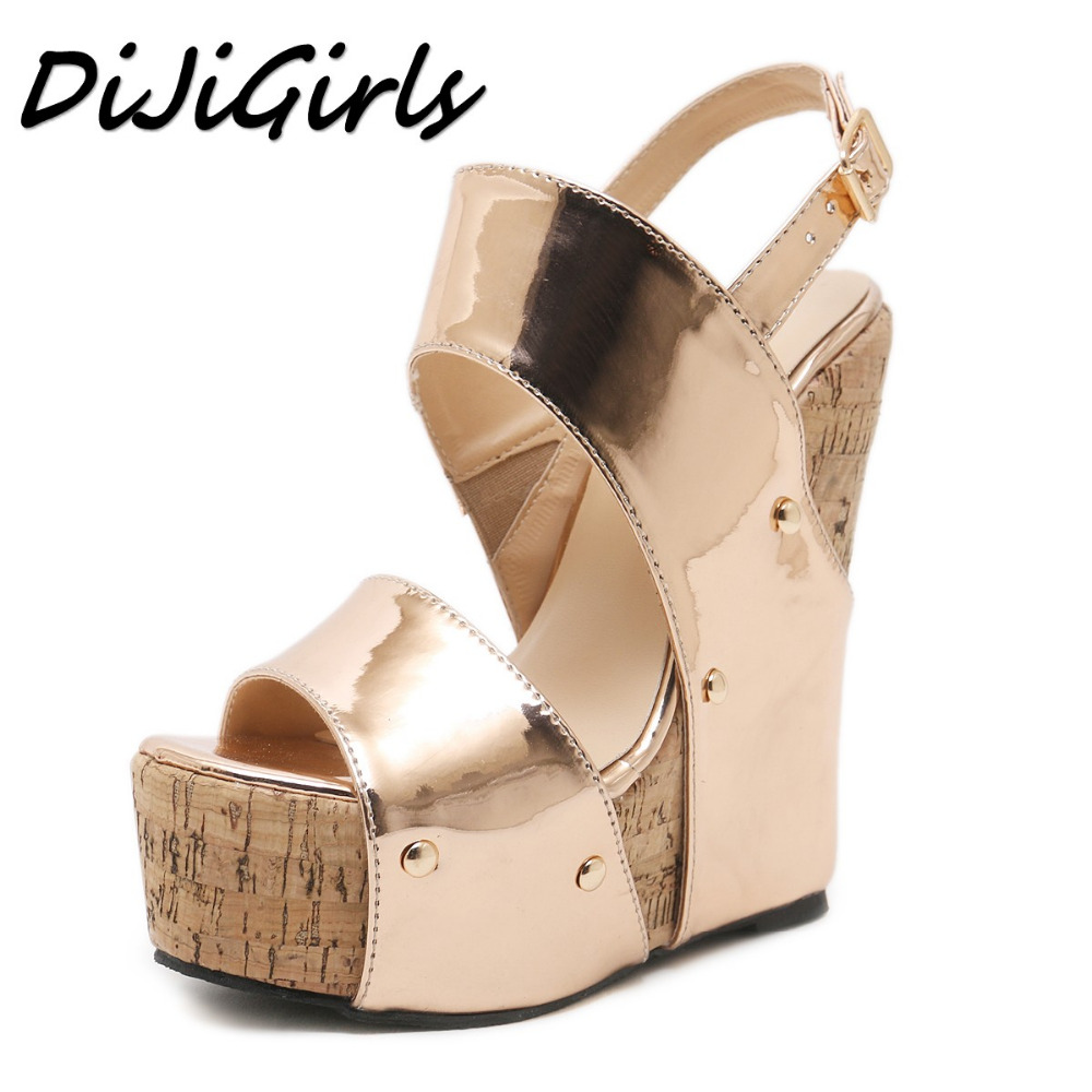 DiJiGirls 2018 Summer Women Bohemia Wedge Sandals Shoes Woman Buckle Strap Casual Gladiator Wedges Ankle Strap Platform Sandals 32 43 big size summer woman platform sandals fashion women soft leather casual silver gold gladiator wedges women shoes h19