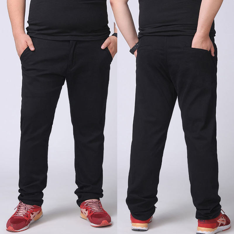 MAX 27-44 46 48 Inch Waist Plus Size Fashion 2019 New Spring Winter Straight Men Casual Pants 100% Pure Cotton Trousers